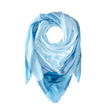COACH Women's Lightweight Windowpane Challis Sky Scarf