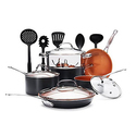 15 Pcs Gotham Steel Nonstick Copper Complete Cookware Set