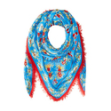 COACH Women's Floral Woven Oversized Square Scarf