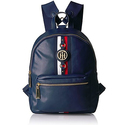 Tommy Hilfiger Jaden Women Backpack, Navy Polyvinyl Chloride