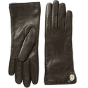 COACH Women's Iconic Leather Gloves Teak Gloves
