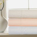100% Cotton Percale 4-Piece Striped Sheet Set from $29.99