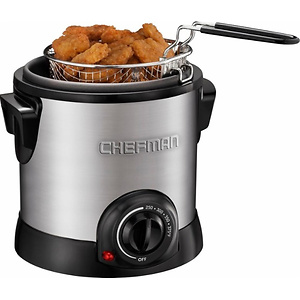 Best Buy: Chefman 1.1-Quart Deep Fryer Stainless steel