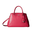 COACH Women's Crossgrain Small Margot Carryall Cerise Handbag