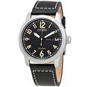 Citizen Eco-Drive Chandler Black Dial Men's Leather Watch
