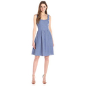 Nine West Women's Sleeveless Pleated Fit and Flare Dress