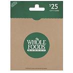 Whole Foods 礼卡