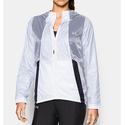 Under Armour Women's Run True Jacket, White/Black, Small