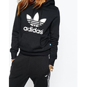 adidas Originals Women's Trefoil Hoodie, Black/French Terry, M