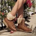 UGG Caleigh 女士真皮短靴