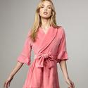 Juicy Couture Black Label Women's Ruffle Robe, Fuchsia Pink, L/XL