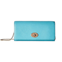 COACH Women's Crossgrain Leather Slim Chain Envelope