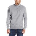 Champion Men's Powerblend Quarter-Zip Fleece Jacket, Oxford Gray, Medium