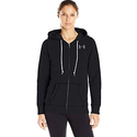 Under Armour Women's Favorite Fleece Full Zip, Black/White, Small