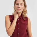 Everlane:The Relaxed Silk Sleeveless New Arrivals,Only $65