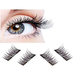 3D Reusable fashionable Black and Brown color False Magnetic Eyelashes Ultra thin no glue needed for natural longer thicker eyelash look by Vena Beauty