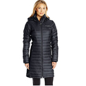 Columbia Women's Powder Pillow Hybrid Long Jacket, Black, Large