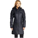 Columbia Women's Powder Pillow Hybrid Long Jacket, Black, Large