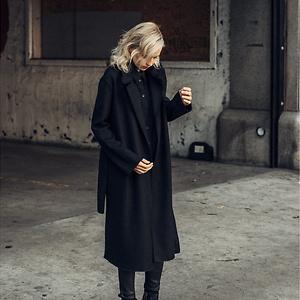 DSTLD Womens Wool Blanket Maxi Coat