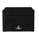 Vivienne Westwood Men's Credit Card Holder Black Wallet