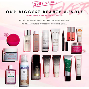 B-Glowing:20% OFF on ALL Skincare + $257-Value Gift with $150 Purchase
