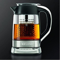 KRUPS Electric Glass Kettle with Incorporated Tea Infuse