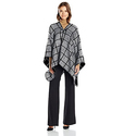 Calvin Klein Women's Window Pane Ruana