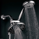 HotelSpa® 1431 Ultra-Luxury 30-Setting 3-Way Rainfall Shower Head Combo