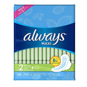 Always Maxi Size 2 Feminine Pads with Wings