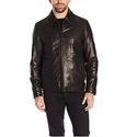 Tommy Hilfiger Men's Smooth Lamb Leather Laydown Collar James Dean Jacket
