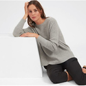 Everlane: The Waffle Knit Cashmere Square Crew New Arrivals