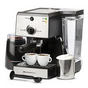 7 Pc All-In-One Espresso/Cappuccino Machine Bundle Set