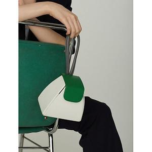 W Concept:10% OFF Atelier Park Color Block Handle Bag