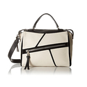 Nine West Underwraps Satchel -  Milk/Black/Black