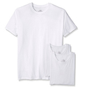 3 Cotton Hanes T-shirts White, M