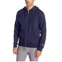 Champion Men's Powerblend Full-Zip Hoodie, Navy, Medium