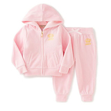 Juicy Couture Big Girls' 2 Piece Velour Hooded Jacket and Pant Set
