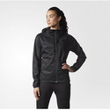 adidas Women's Training Climastorm Full Zip Jacket, Black/Black, Medium