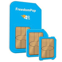 FreedomPop 3-In-1 4G LTE SIM Kit: Unlimited Talk & Text + 4GB Data
