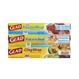 Glad Food Plastic Wrap Variety Pack 3 Count - 420 Square Feet