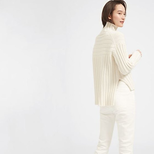 Everlane: The Wood-Cashmer Rib Oversized Turtleneck New Arrivals