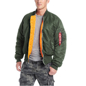Alpha Industries Men's Ma-1 Flight Jacket, Sage Green, Small