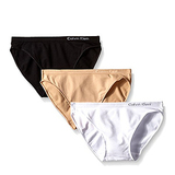 Calvin Klein Women's 3 Pack Pure Seamless Bikini Panty-Small