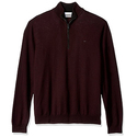 Calvin Klein Men's Merino End Check Quarter Zip Sweater