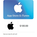 $100 App Store & iTunes 礼卡