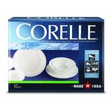 Corelle Livingware 10pc Dinnerware Set Winter Frost White