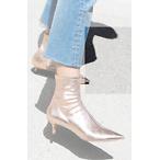 金属色短靴