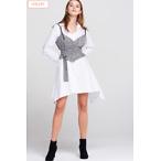Keri Shirt Dress With Check Vest