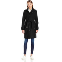 Tommy Hilfiger Women's Single Breasted Wool Trench Coat