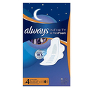 Always Infinity Size 4 Overnight Feminine Pads with Wings 84 Count